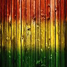 Rasta Colored Wood by LionTuff79