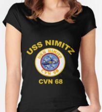 Crest of USS Nimitz for Dark Backgrounds Women's Fitted Scoop T-Shirt