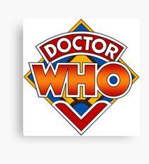 Classic Doctor Who Diamond Logo. Canvas Print