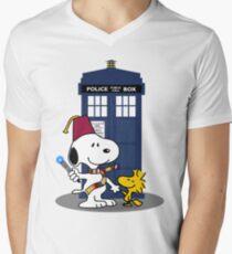 Snoopy Who. Men's V-Neck T-Shirt