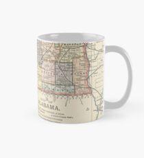 Vintage Map of Alabama (1891) Mug