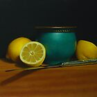 Lemons with Silver Knife by Paul Coventry-Brown