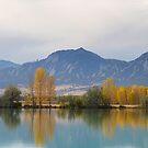 Boulder Colorado Autumn Flatiron Panorama Reflections by Bo Insogna