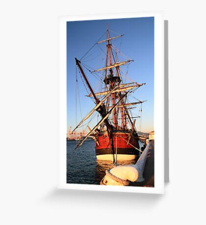 HMS Endeavour Greeting Card