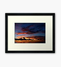Beautiful sunset at tropical island Framed Print