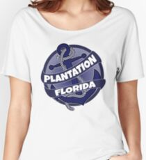 Plantation Florida anchor swirl Women's Relaxed Fit T-Shirt