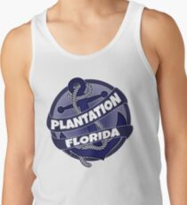 Plantation Florida anchor swirl Tank Top