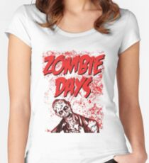 Zombie Days Red Women's Fitted Scoop T-Shirt