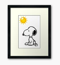 Happy snoopy Framed Print