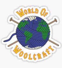 World Of Woolcraft Sticker