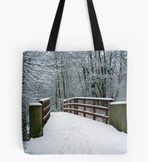 Bridge between white worlds Tote Bag
