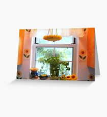 Kitchen windowsill  ^ Greeting Card