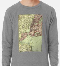 Sudadera ligera Vintage NYC and Surrounding Areas Map (1879)