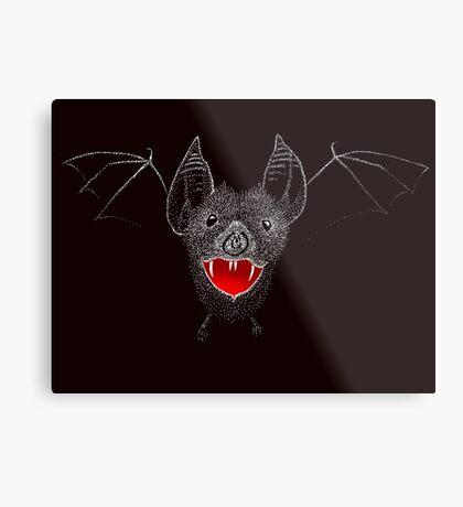 Flying Vampire Bat likes you a lot Metal Print