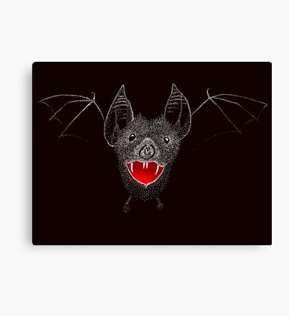 Flying Vampire Bat likes you a lot Canvas Print
