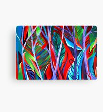 Jewel colour jungle Canvas Print