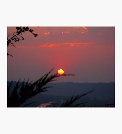 Red Sun Photographic Print