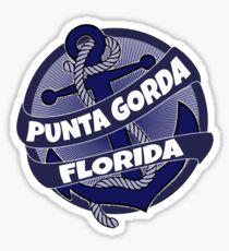 Punta Gorda Florida anchor swirl Sticker