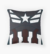 American Shield - Distressed Throw Pillow