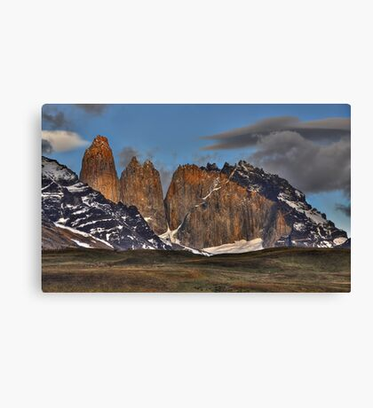 The Peaks of Torres del Paine Canvas Print