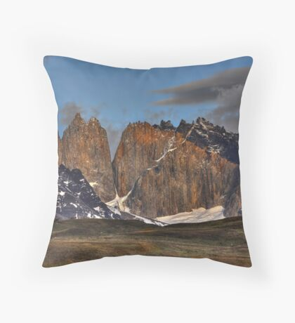 The Peaks of Torres del Paine Throw Pillow