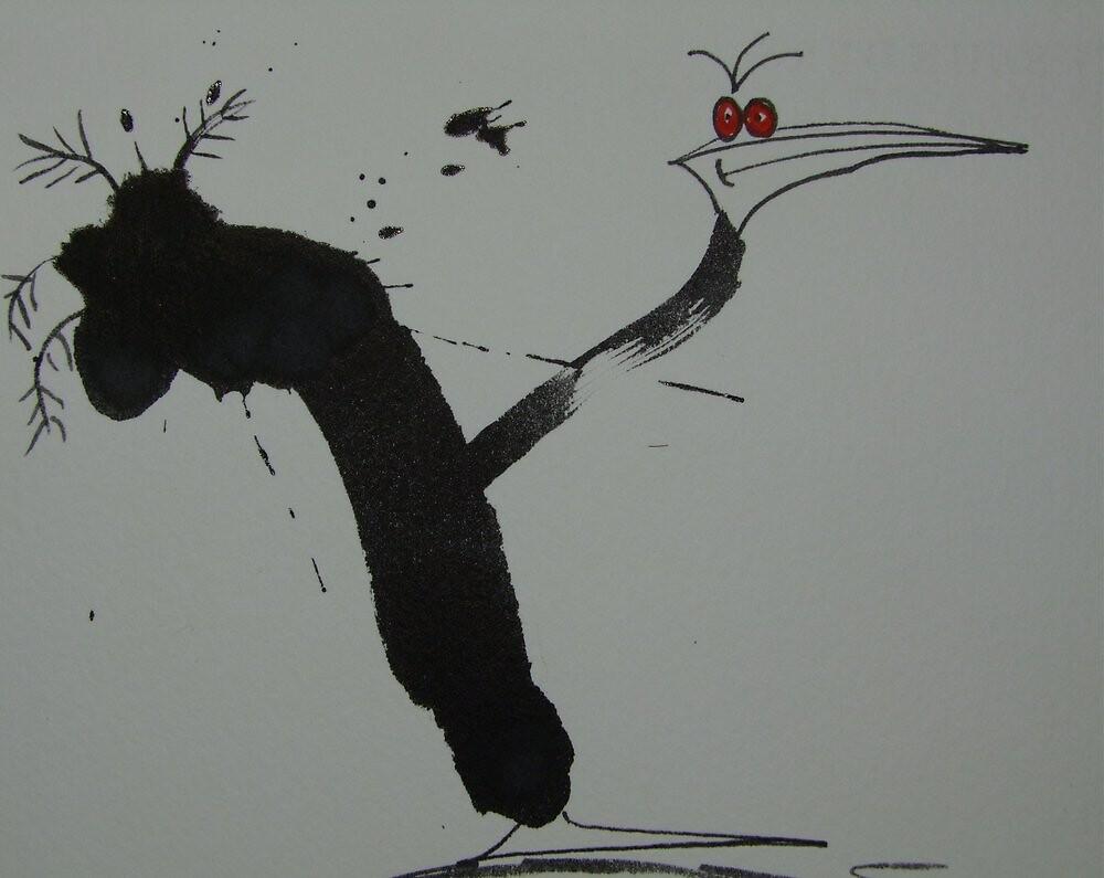 Peacrowcock by leunig