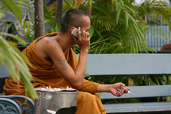 """Cool Hand Monk"", Bangkok by Morris Lieberman"