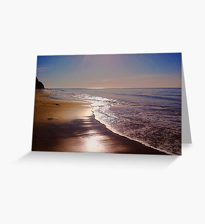 Morning at the Beach Greeting Card