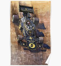 Lotus 72 D Spanish GP 1972 Emerson Fittipaldi winner Poster
