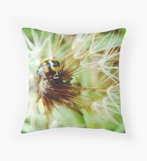 Insect on Dandelion Throw Pillow