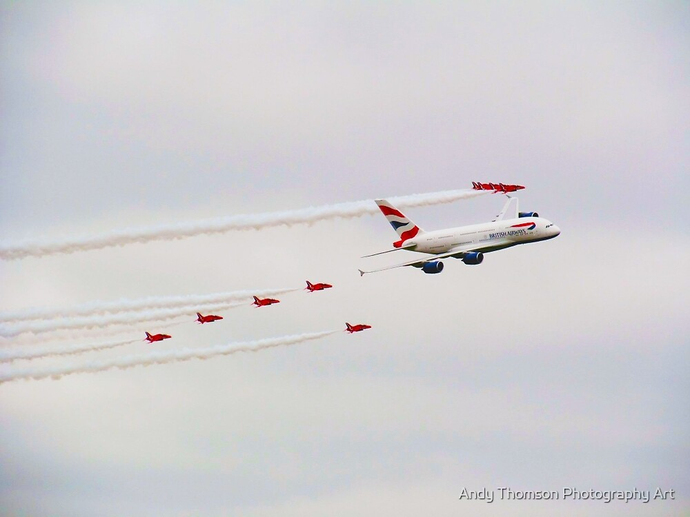 A380 & The Reds by Andy Thomson Photography Art