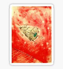 Deep Red Sticker