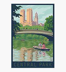 Bow Bridge in Central Park Photographic Print