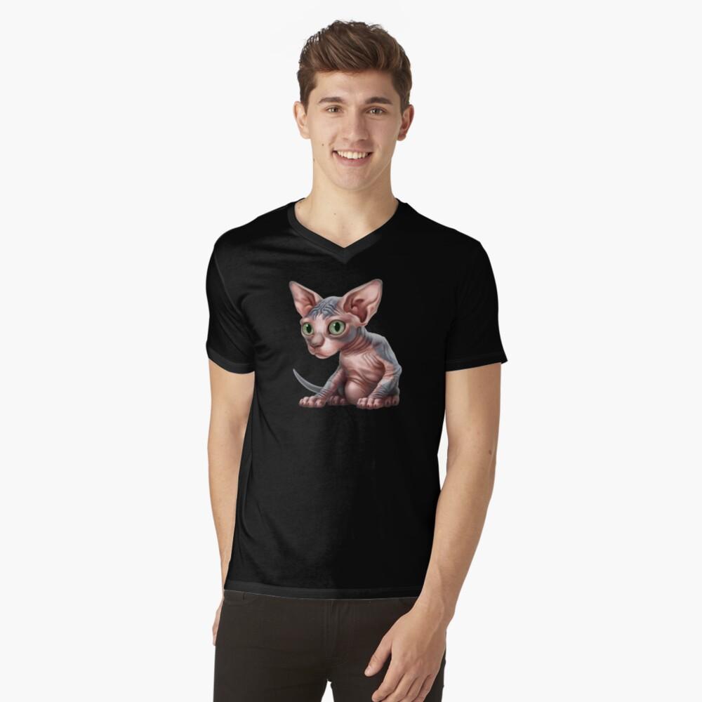 Cat-a-clysm: Sphynx kitten - Classic Mens V-Neck T-Shirt Front