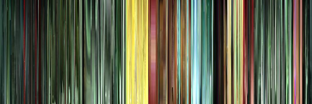 Moviebarcode: The Animatrix 9: Matriculated (2003) by moviebarcode