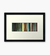 Moviebarcode: The Animatrix 9: Matriculated (2003) Framed Print