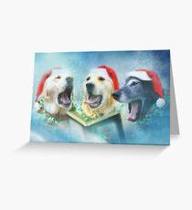 K9 Carolers Greeting Card