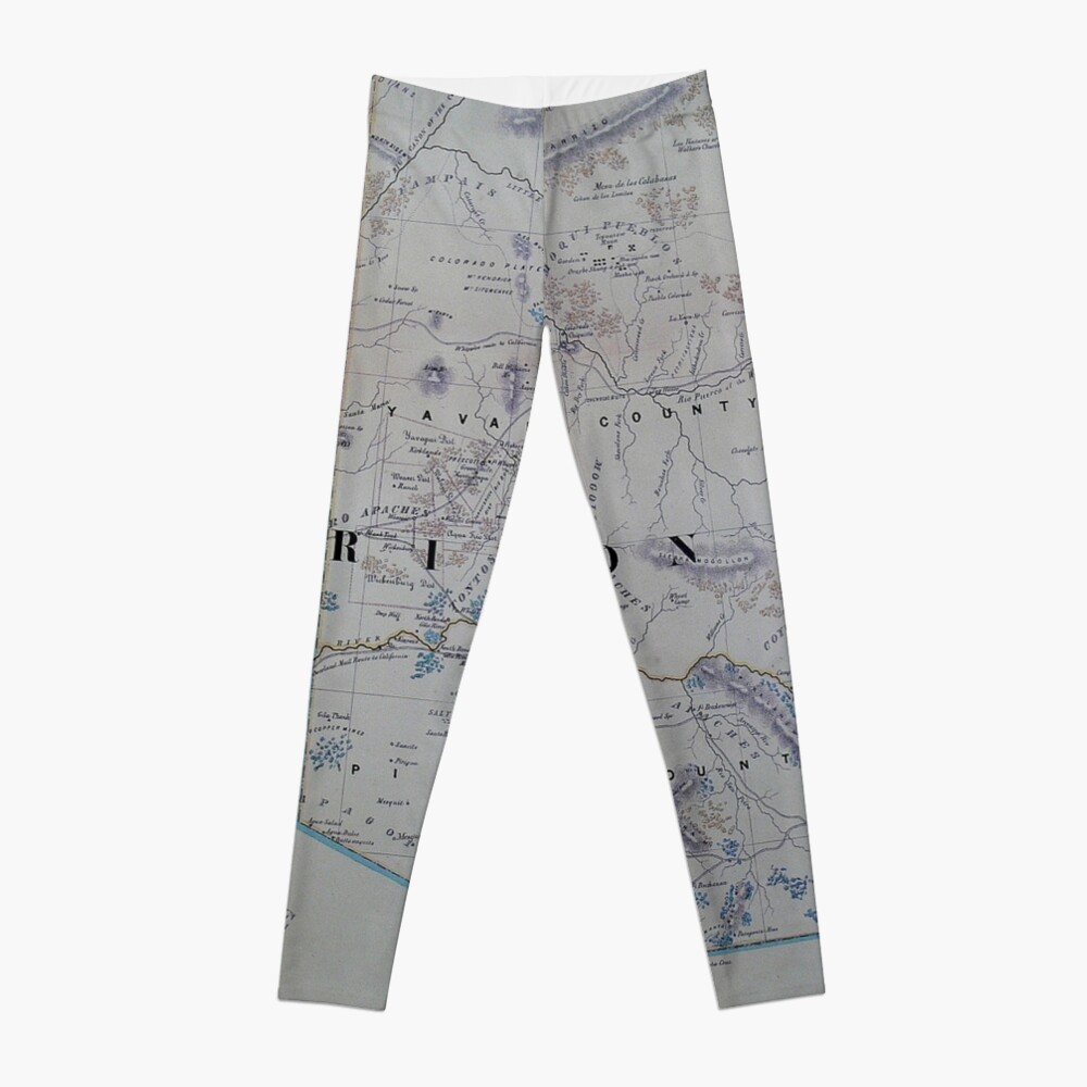 Vintage Karte von Arizona (1866) Leggings