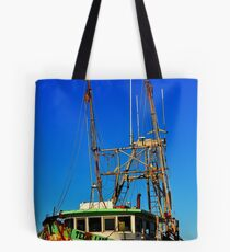 Texas Lady Shrimp Boat Tote Bag