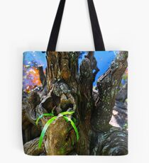 Small Plant Survives Among the Cypress Knees  Tote Bag