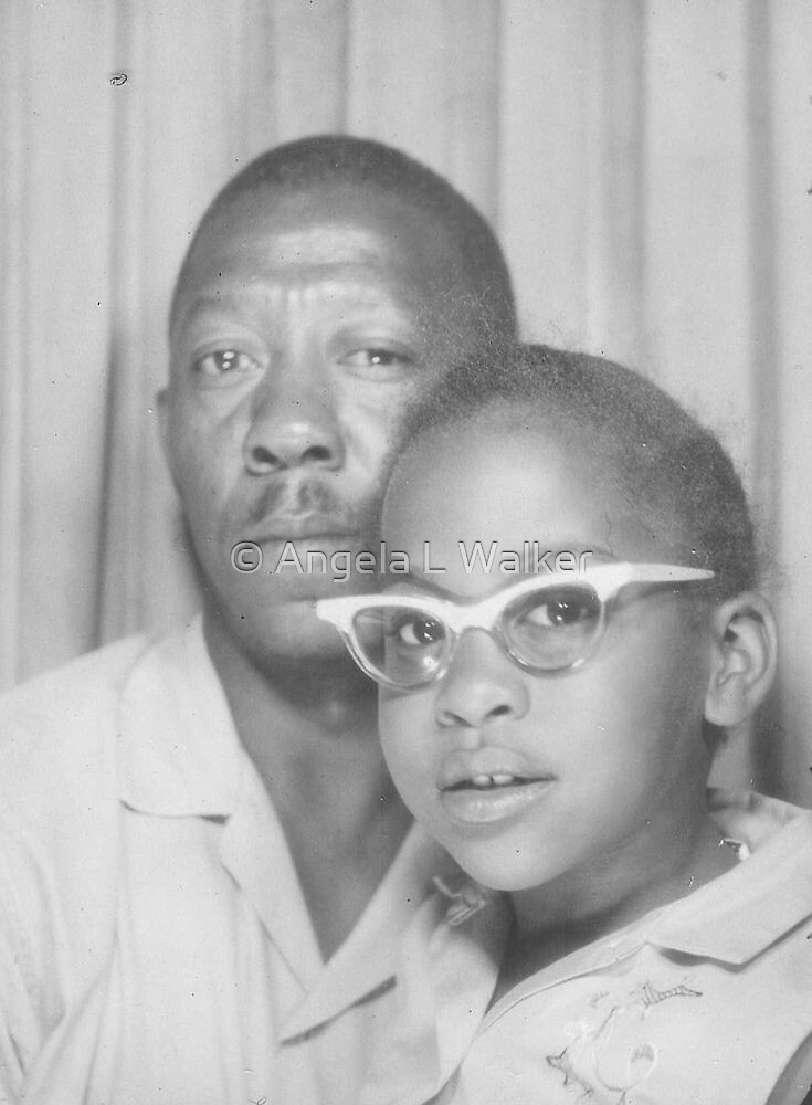Young Angela with Her Dad by © Angela L Walker