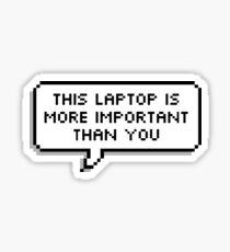 Laptop - Speech bubble Sticker