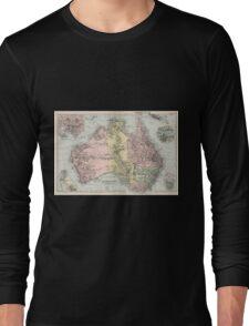 Vintage Map of Australia (1891) Long Sleeve T-Shirt