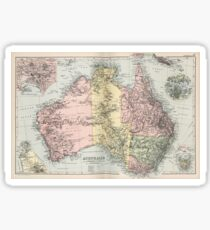 Vintage Map of Australia (1891) Sticker