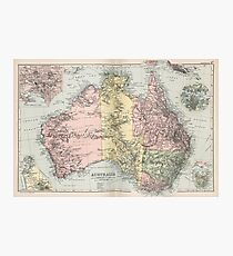 Vintage Map of Australia (1891) Photographic Print