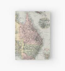 Vintage Map of Australia (1891) Hardcover Journal