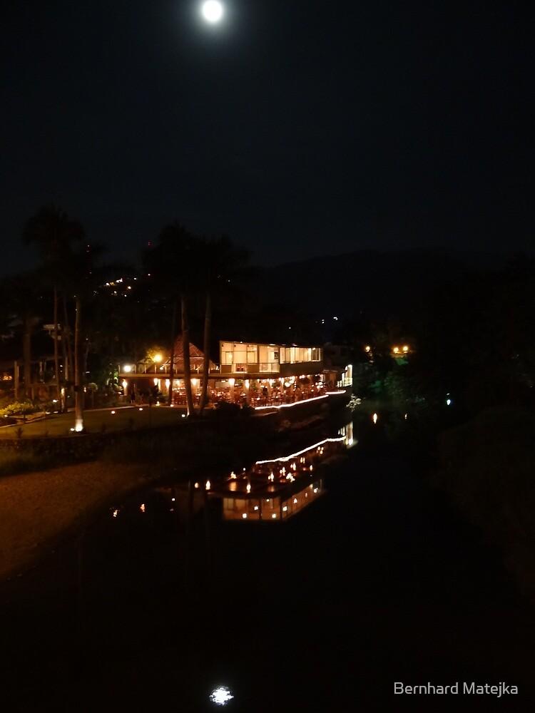 Riverscape in the night - Paisaje del rio en la noche by Bernhard Matejka