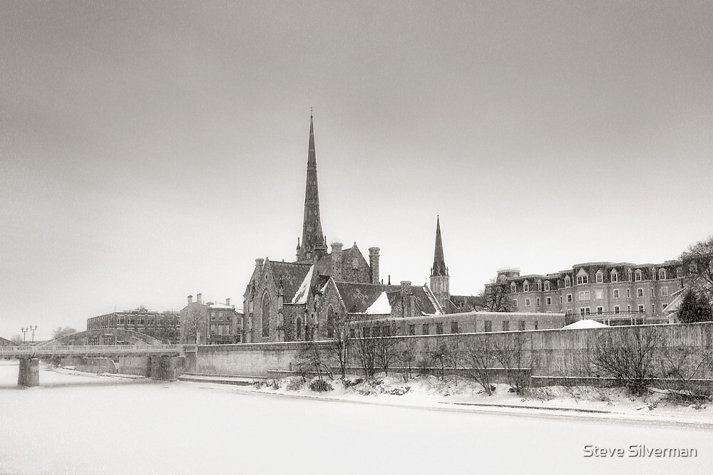 Snow Squall Over the Grand River II by Steve Silverman