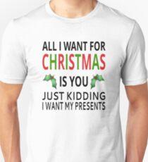 Camiseta unisex All I Want For Christmas