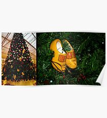 WoodenShoes Xmas Tree - diptych Poster